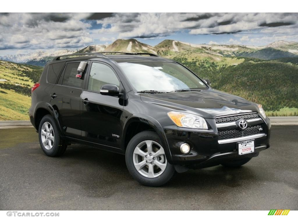 2011 black toyota rav4 v6 limited 4wd 45496268 car color galleries. Black Bedroom Furniture Sets. Home Design Ideas