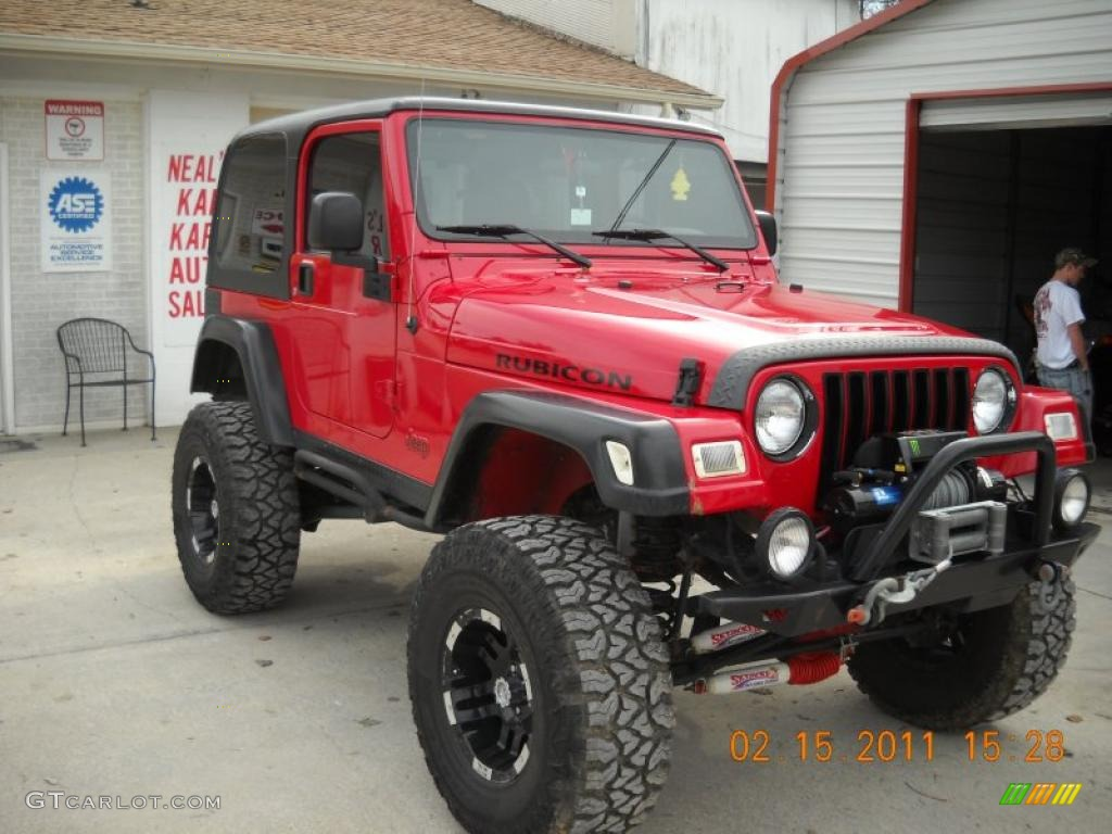 flame red 2004 jeep wrangler rubicon 4x4 exterior photo. Black Bedroom Furniture Sets. Home Design Ideas