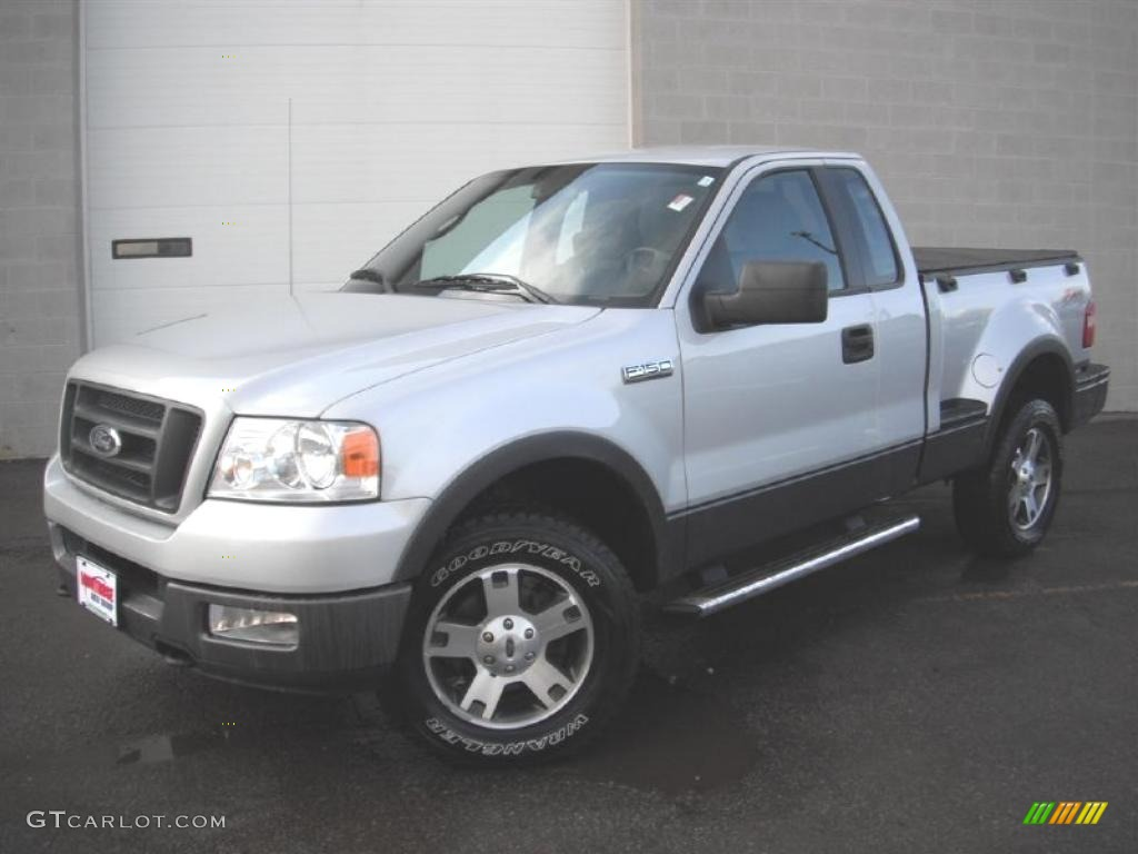 2005 f150 fx4 regular cab 4x4 silver metallic medium flint grey photo 1