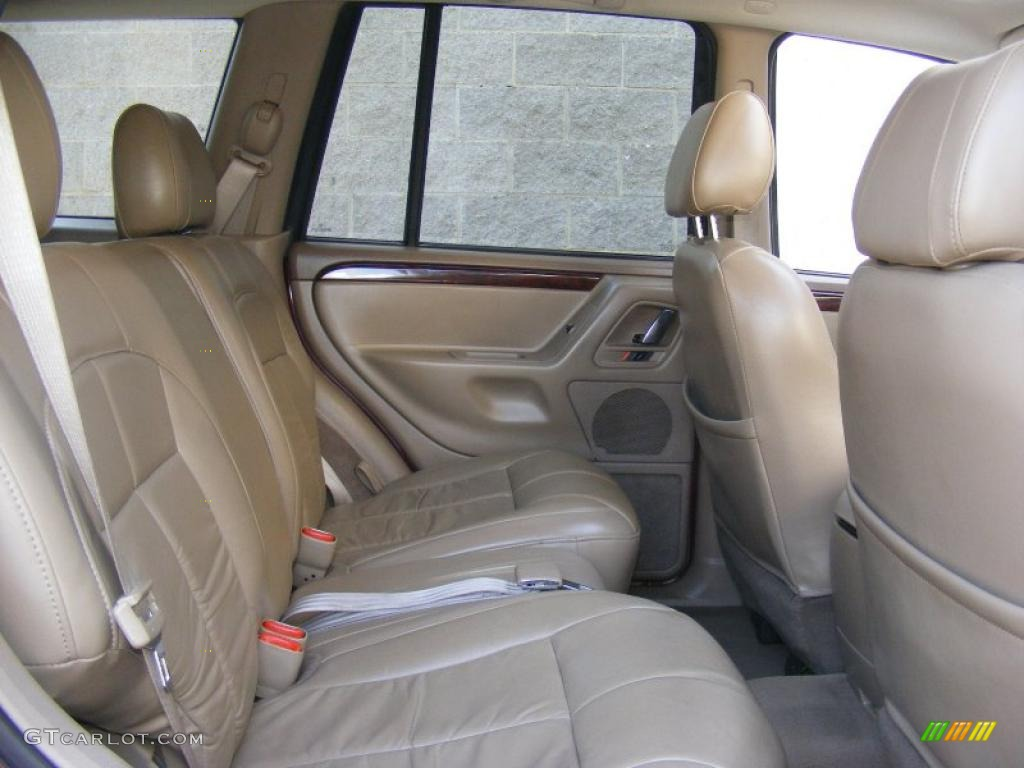sandstone interior 2002 jeep grand cherokee limited 4x4 photo 45550573. Black Bedroom Furniture Sets. Home Design Ideas