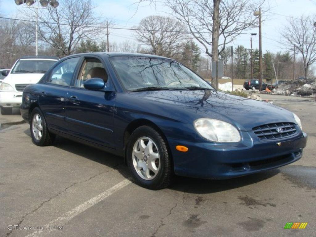 Napoli Blue 2000 Hyundai Sonata Gls V6 Exterior Photo