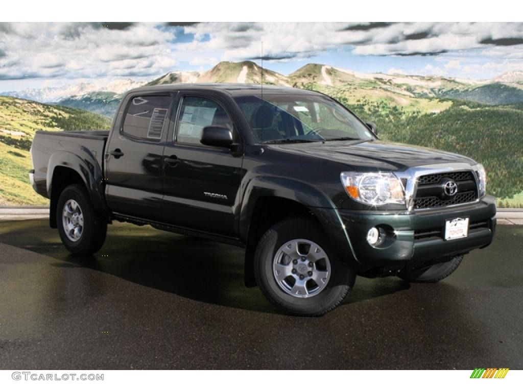 2011 timberland green mica toyota tacoma v6 sr5 double cab. Black Bedroom Furniture Sets. Home Design Ideas