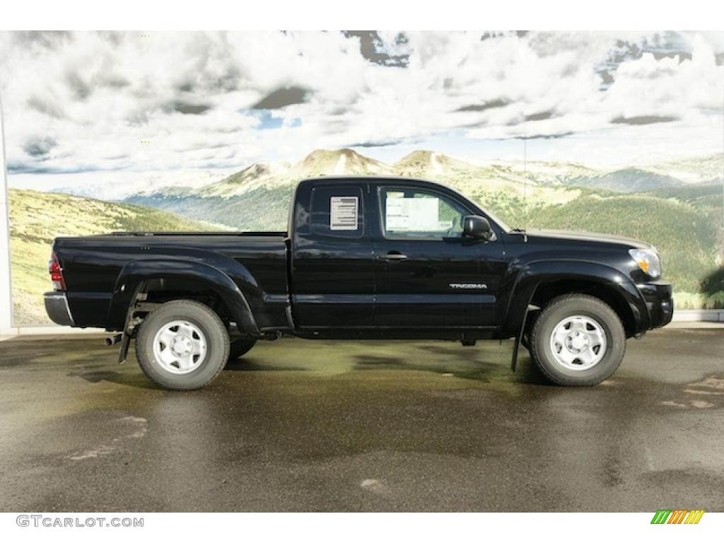 black 2011 toyota tacoma v6 sr5 access cab 4x4 exterior photo 45574602. Black Bedroom Furniture Sets. Home Design Ideas