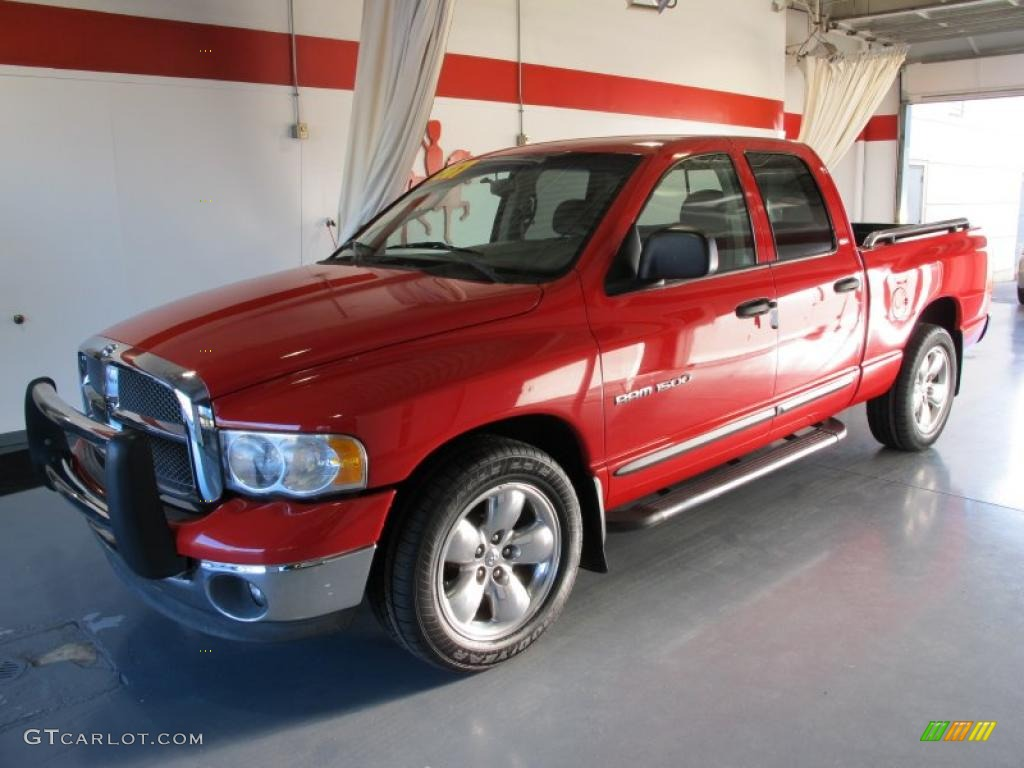 2002 Ram 1500 SLT Quad Cab - Flame Red / Taupe photo #1