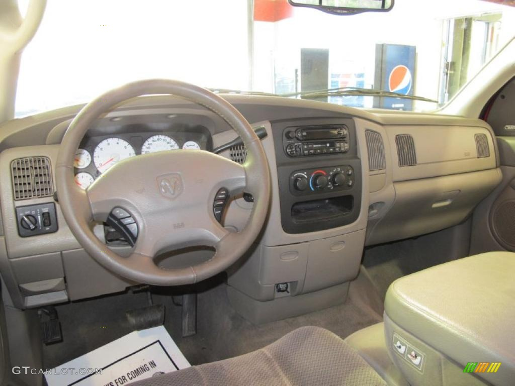 2002 Dodge Ram 1500 Slt Quad Cab Taupe Dashboard Photo 45593931