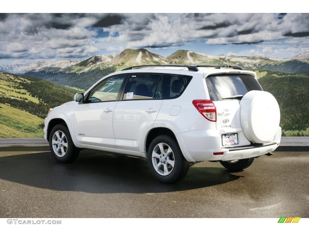 2011 blizzard white pearl toyota rav4 limited 4wd 45448297 photo 3 car color. Black Bedroom Furniture Sets. Home Design Ideas
