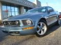 2007 Windveil Blue Metallic Ford Mustang V6 Premium Coupe  photo #1