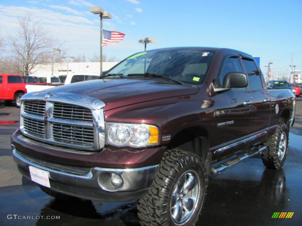 2005 deep molten red pearl dodge ram 1500 slt rumble bee. Black Bedroom Furniture Sets. Home Design Ideas