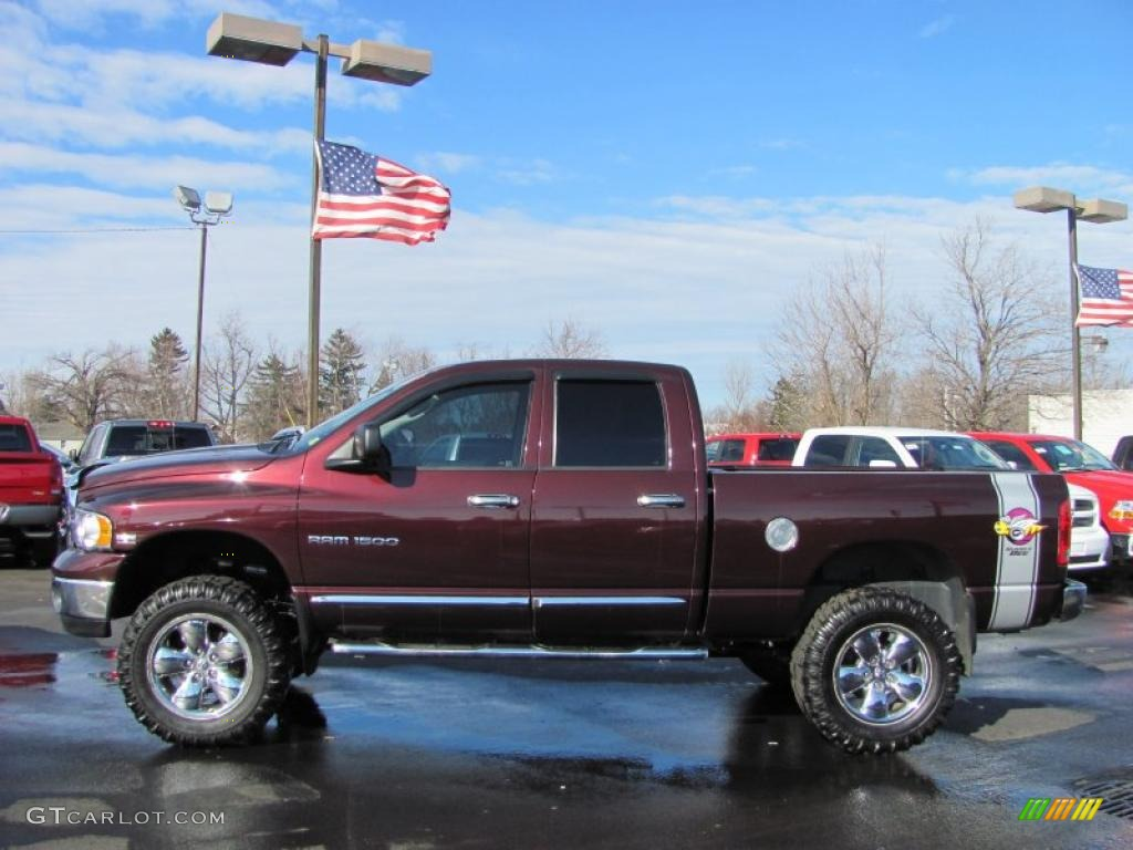 2005 deep molten red pearl dodge ram 1500 slt rumble bee quad cab 4x4 45498886 photo 4. Black Bedroom Furniture Sets. Home Design Ideas