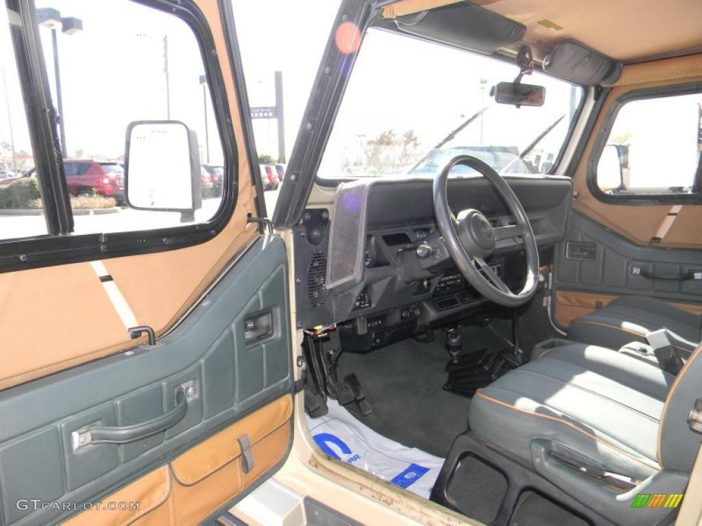 Green Beige Interior 1992 Jeep Wrangler Sahara 4x4 Photo 45640039 Gtcarlot Com