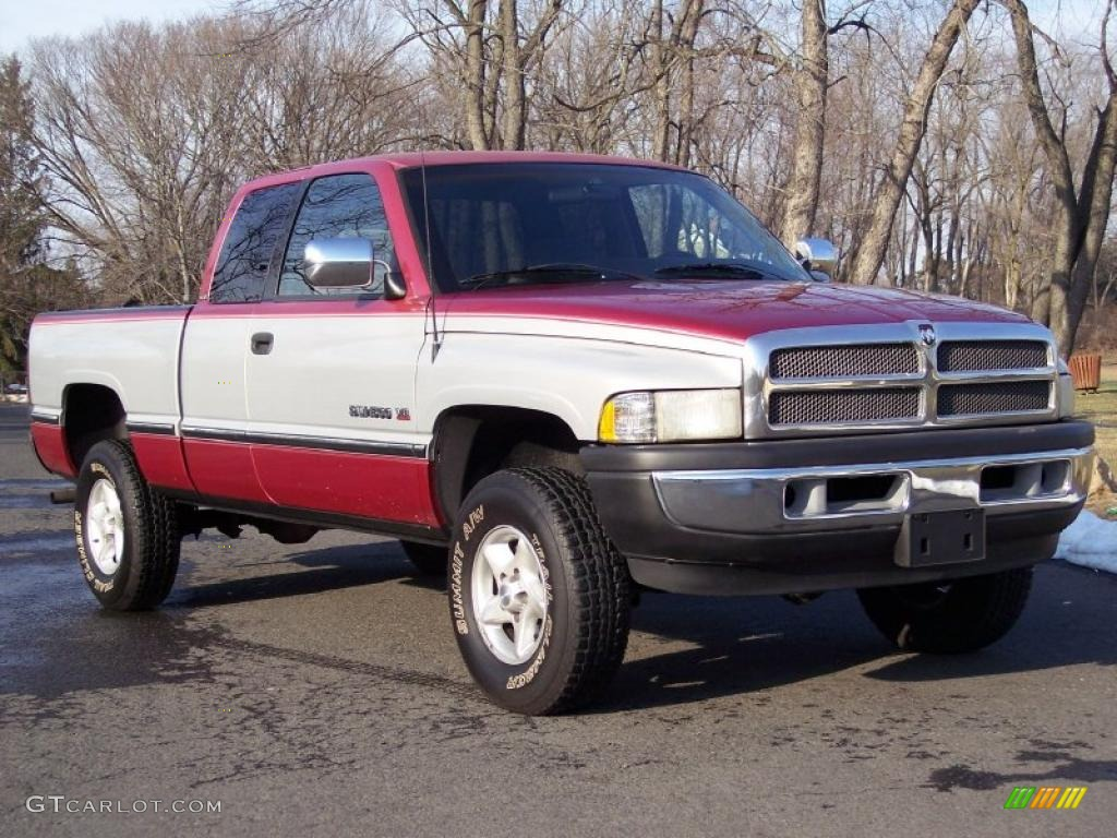 1997 metallic red dodge ram 1500 laramie slt extended cab 4x4 45449758 car. Black Bedroom Furniture Sets. Home Design Ideas