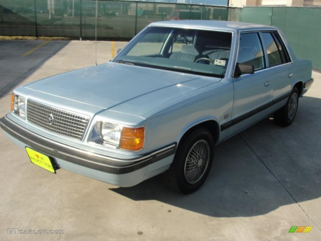 1989 Light Blue Metallic Plymouth Reliant K LE America 45648448 Photo 7