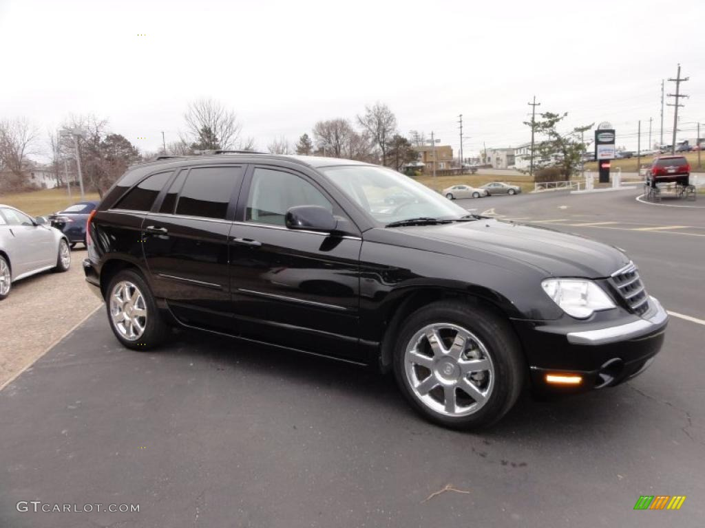 Brilliant Black Crystal Pearlcoat 2008 Chrysler Pacifica Limited Exterior Photo 45658101