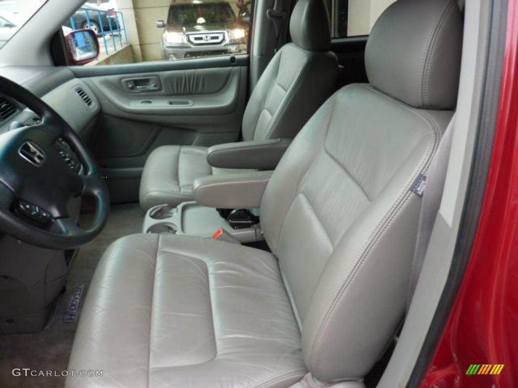 Quartz Gray Interior 2002 Honda Odyssey Ex L Photo