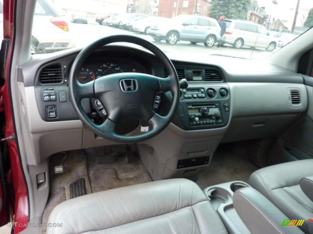 Quartz Gray Interior 2002 Honda Odyssey Ex L Photo