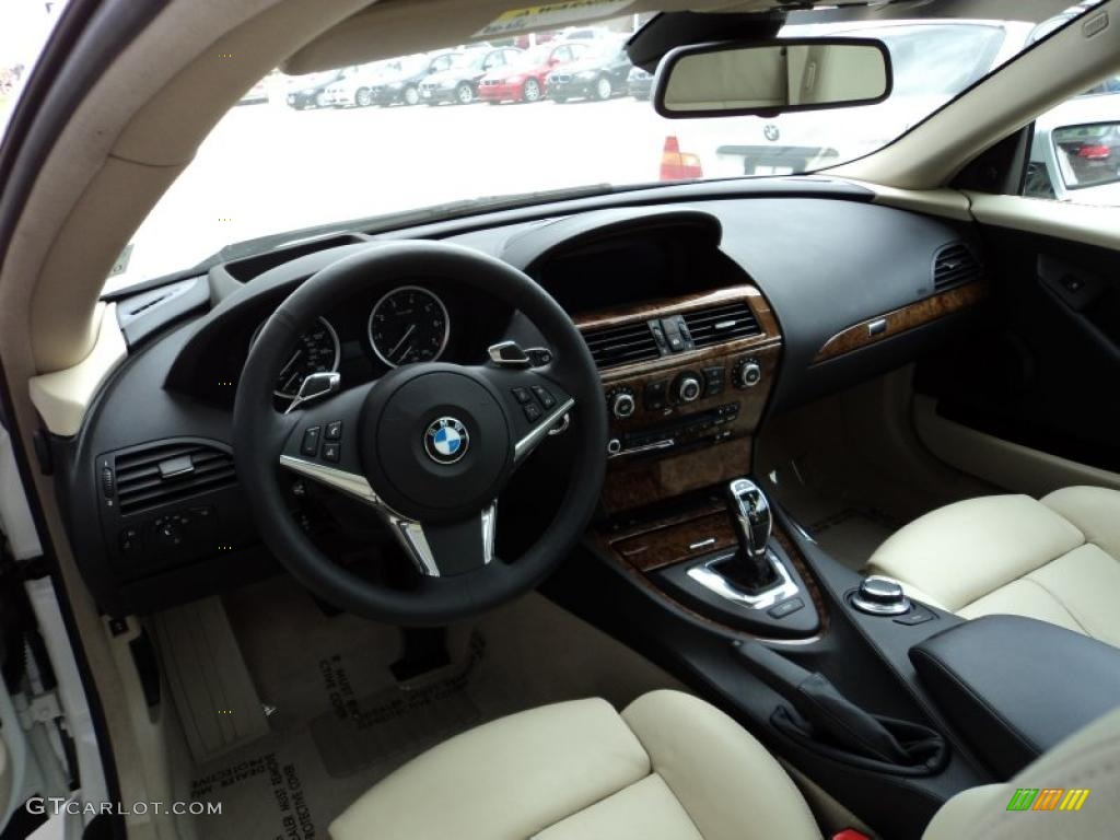 Cream Beige Interior 2008 BMW 6 Series 650i Coupe Photo 45670508