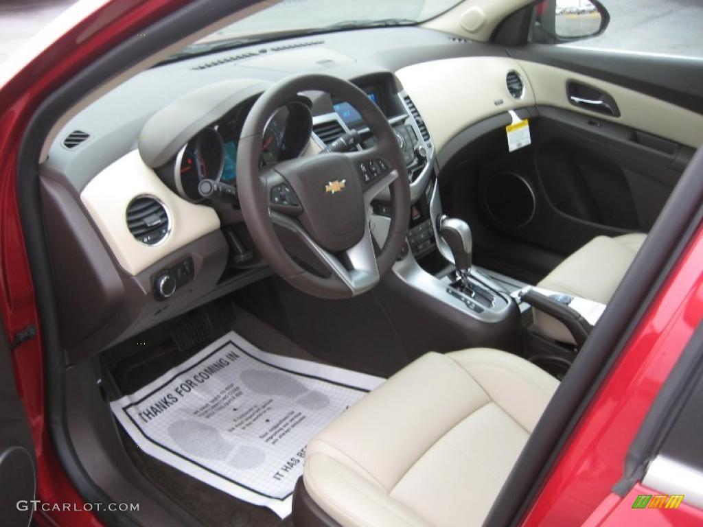 Cocoa Light Neutral Leather Interior 2011 Chevrolet Cruze Lt Photo 45672510