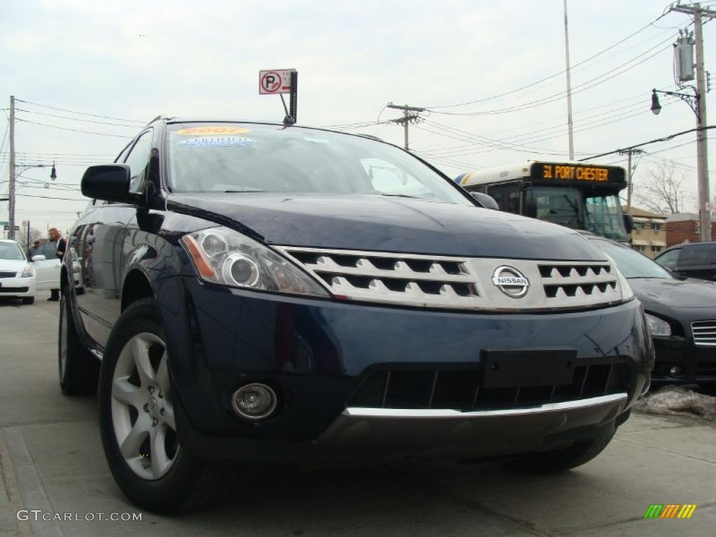 2007 Murano SE AWD - Midnight Blue Pearl / Cafe Latte photo #1