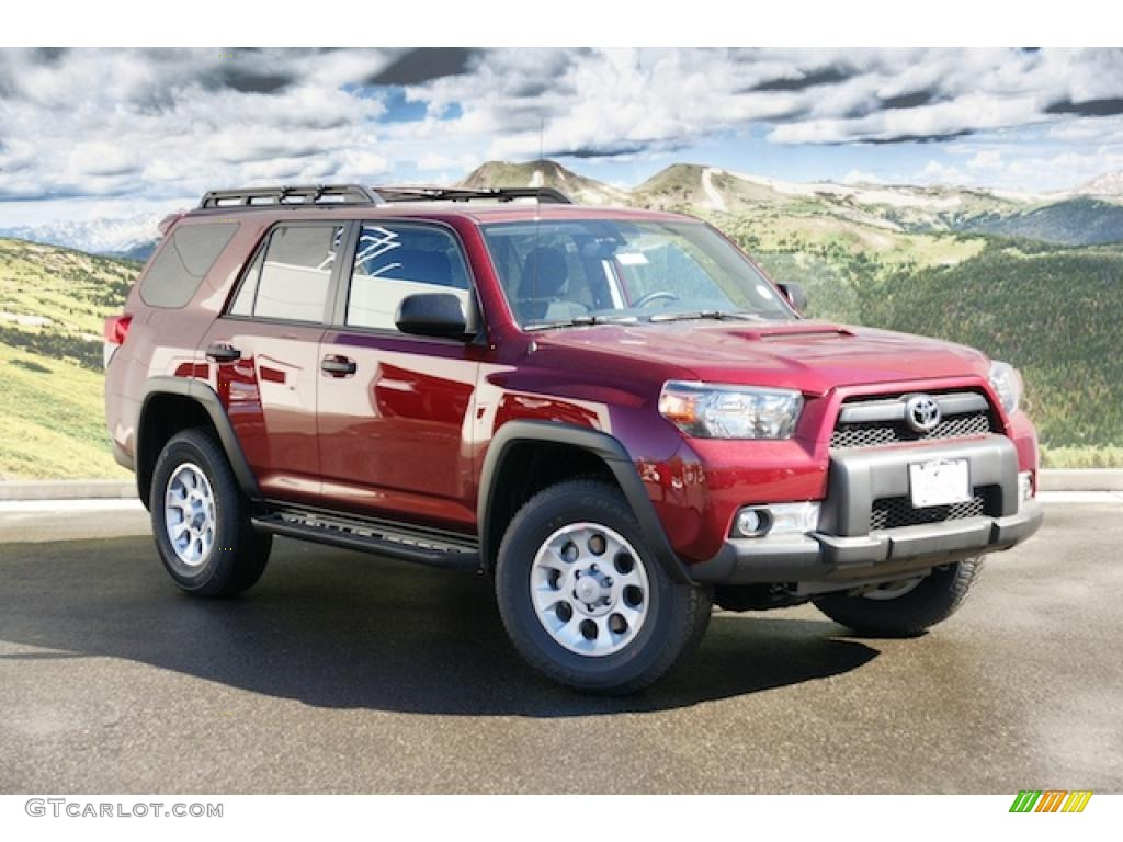 salsa red pearl 2011 toyota 4runner trail 4x4 exterior. Black Bedroom Furniture Sets. Home Design Ideas
