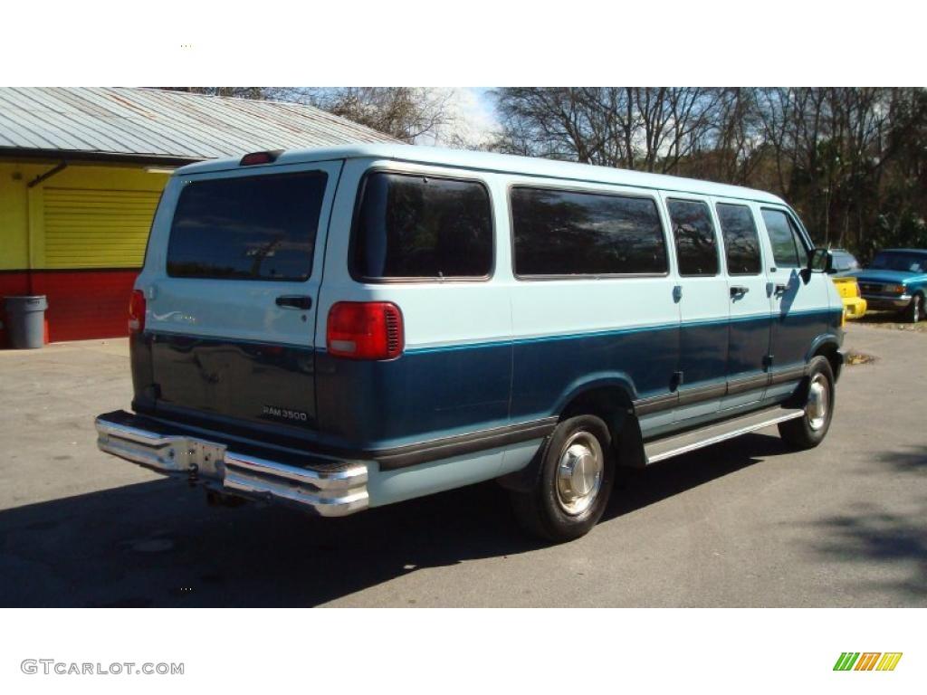 medium blue metallic 1997 dodge ram van 3500 passenger. Black Bedroom Furniture Sets. Home Design Ideas