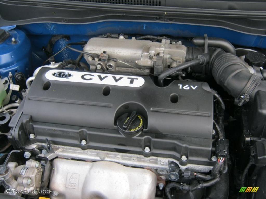2009 Kia Rio LX Sedan 1.6 Liter DOHC 16-Valve CVVT 4 ...