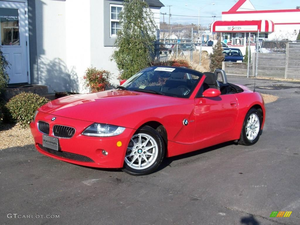2005 Bright Red Bmw Z4 2 5i Roadster 4554478 Gtcarlot