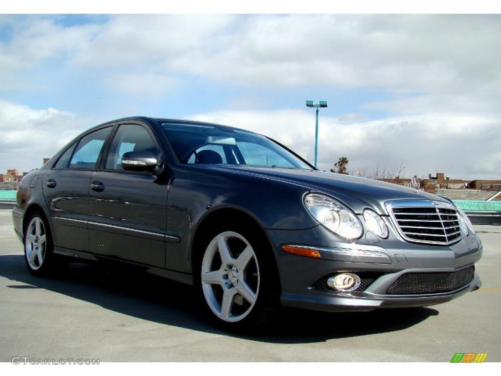 2009 flint grey metallic mercedes benz e 350 4matic sedan for 2009 mercedes benz e350 4matic