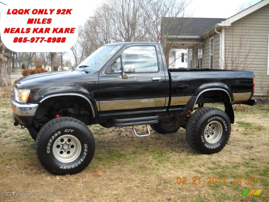 1989 black toyota pickup sr5 regular cab 4x4 45497528. Black Bedroom Furniture Sets. Home Design Ideas