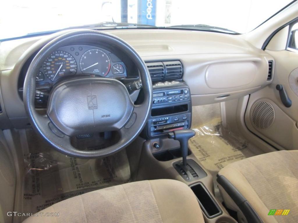 Tan interior 1998 saturn s series sl2 sedan photo