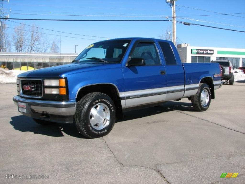 Bright Blue Metallic 1997 Gmc Sierra 1500 Sle Extended Cab 4x4 Exterior Photo 45754758 Gtcarlot Com