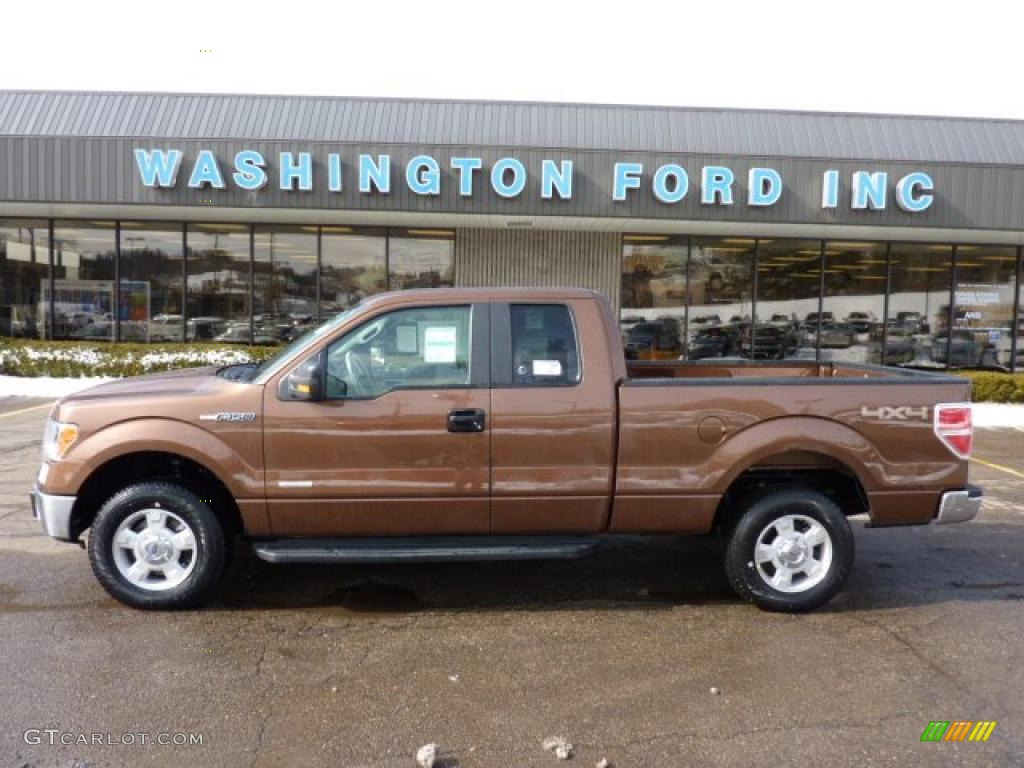 Golden bronze metallic ford f150 ford f150 xlt supercab 4x4