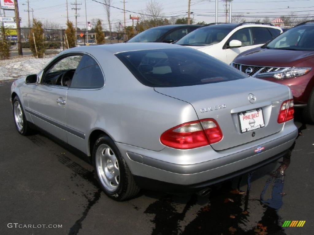 Brilliant silver metallic 1998 mercedes benz clk 320 coupe for 1998 mercedes benz clk 320
