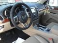 Black/Light Frost Beige 2011 Jeep Grand Cherokee Interiors