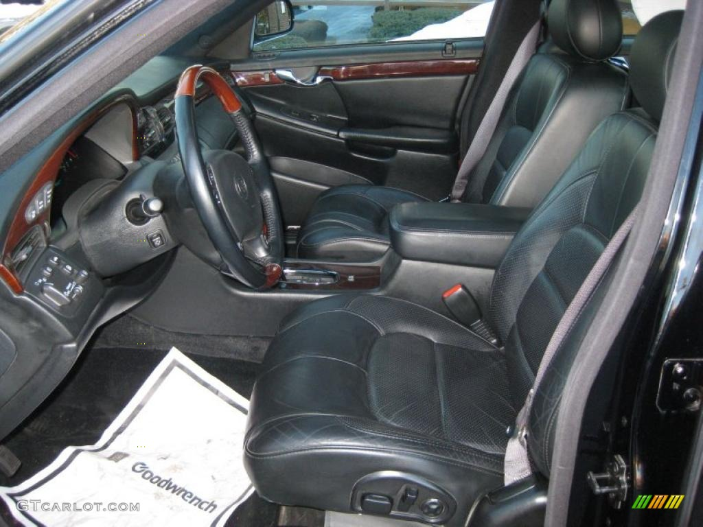 Black Interior 2002 Cadillac Deville Dts Photo 45785286