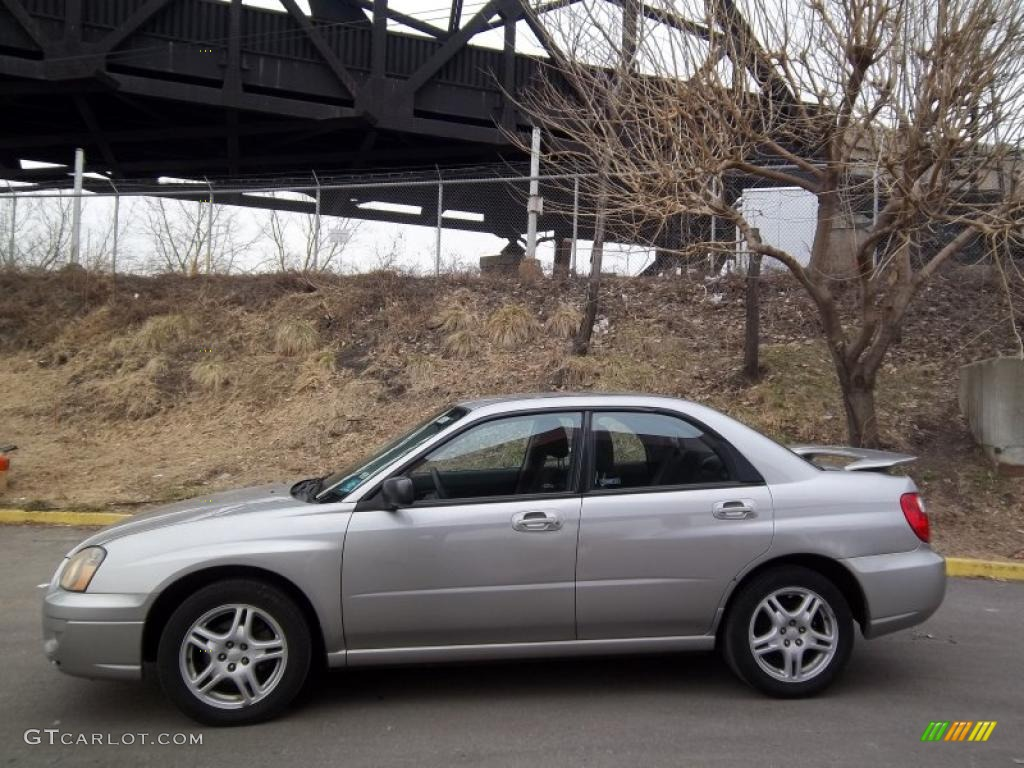 Crystal Grey Metallic 2005 Subaru Impreza 2 5 Rs Sedan
