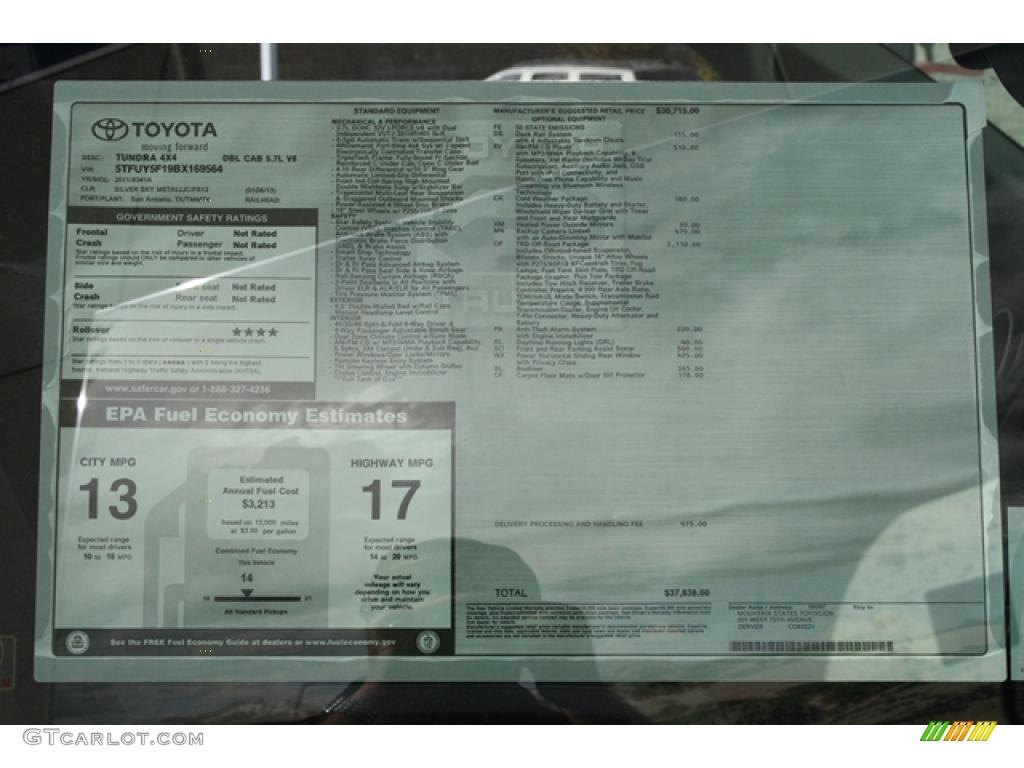 2011 Tundra TRD Double Cab 4x4 - Silver Sky Metallic / Graphite Gray photo #9
