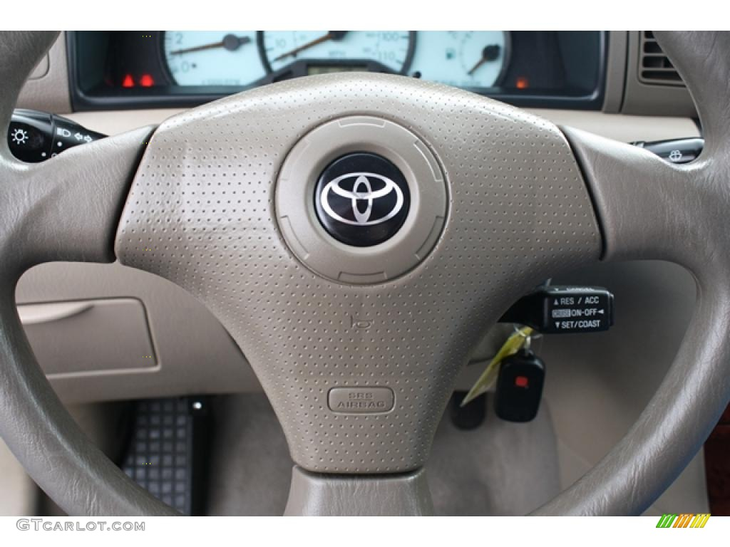 2004 Toyota Corolla Le Pebble Beige Steering Wheel Photo 45797083