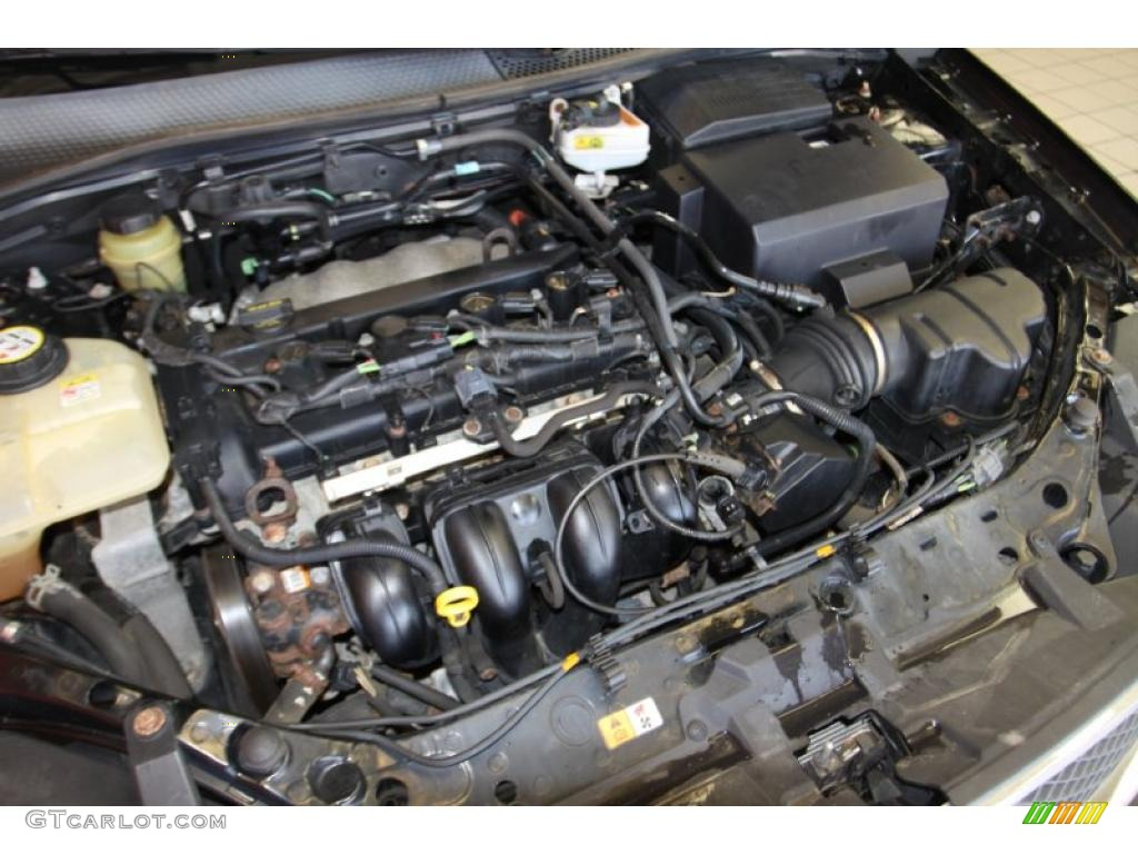 2005 Focus ZX4 S Sedan - Pitch Black / Dark Flint/Light Flint photo #39