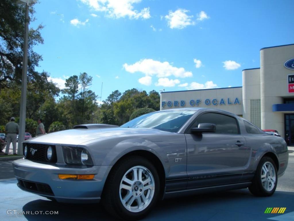 2007 Mustang GT Deluxe Coupe - Tungsten Grey Metallic / Dark Charcoal photo #1