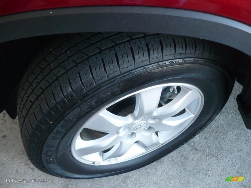 2011 Sorento LX AWD - Spicy Red / Beige photo #19