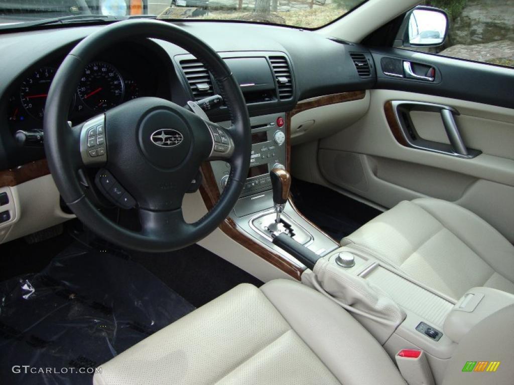 Warm Ivory Interior 2009 Subaru Legacy 3 0r Limited Photo 45834859