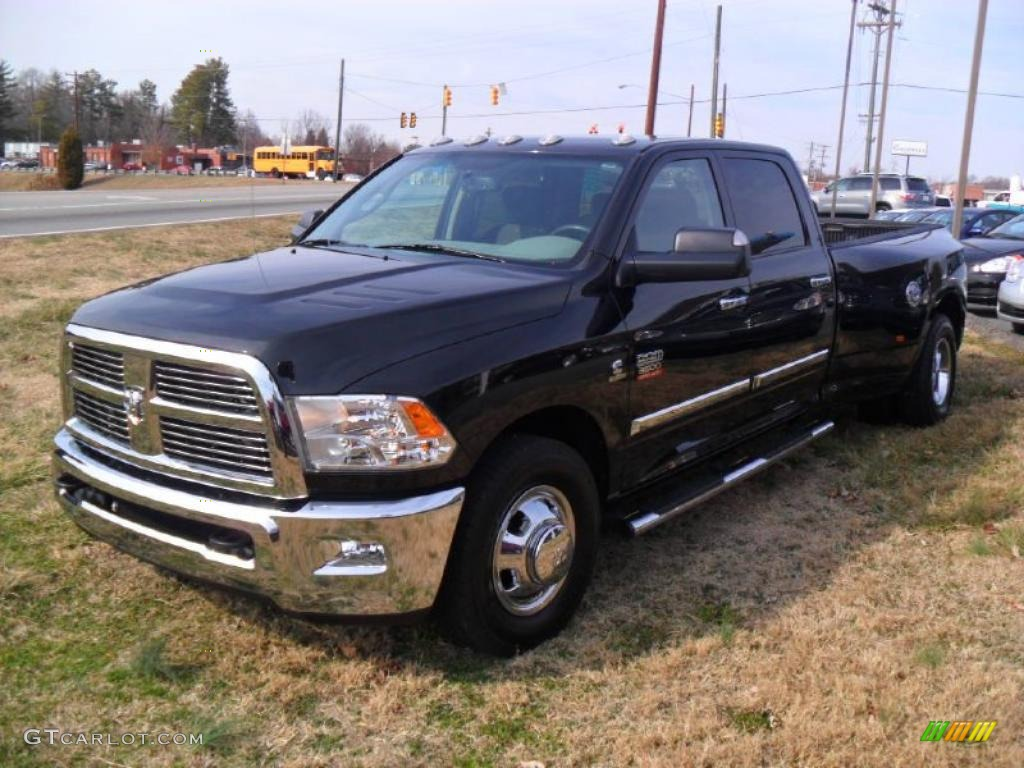 Lone Star Dodge >> Brilliant Black Crystal Pearl 2010 Dodge Ram 3500 Big Horn Edition Crew Cab Dually Exterior ...