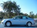 2011 Light Ice Blue Metallic Ford Fusion Hybrid  photo #2