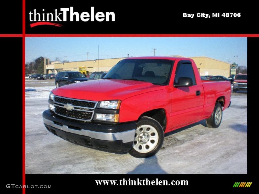 2006 Silverado 1500 Work Truck Regular Cab - Victory Red / Dark Charcoal photo #1