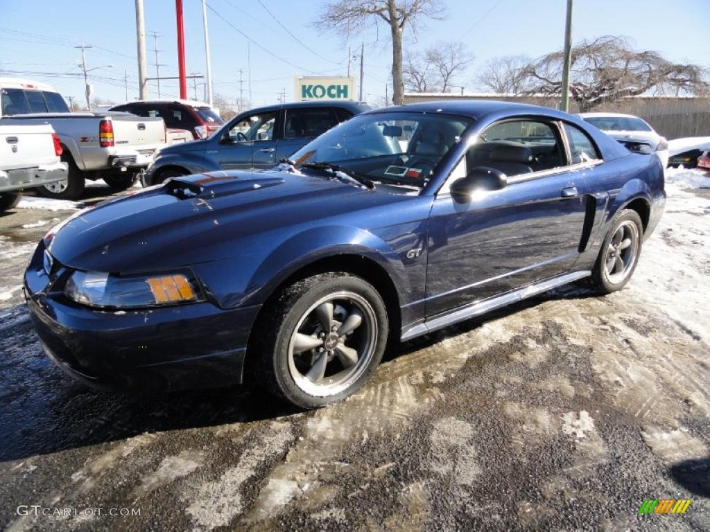 2001 Mustang GT Coupe - True Blue Metallic / Medium Graphite photo #1