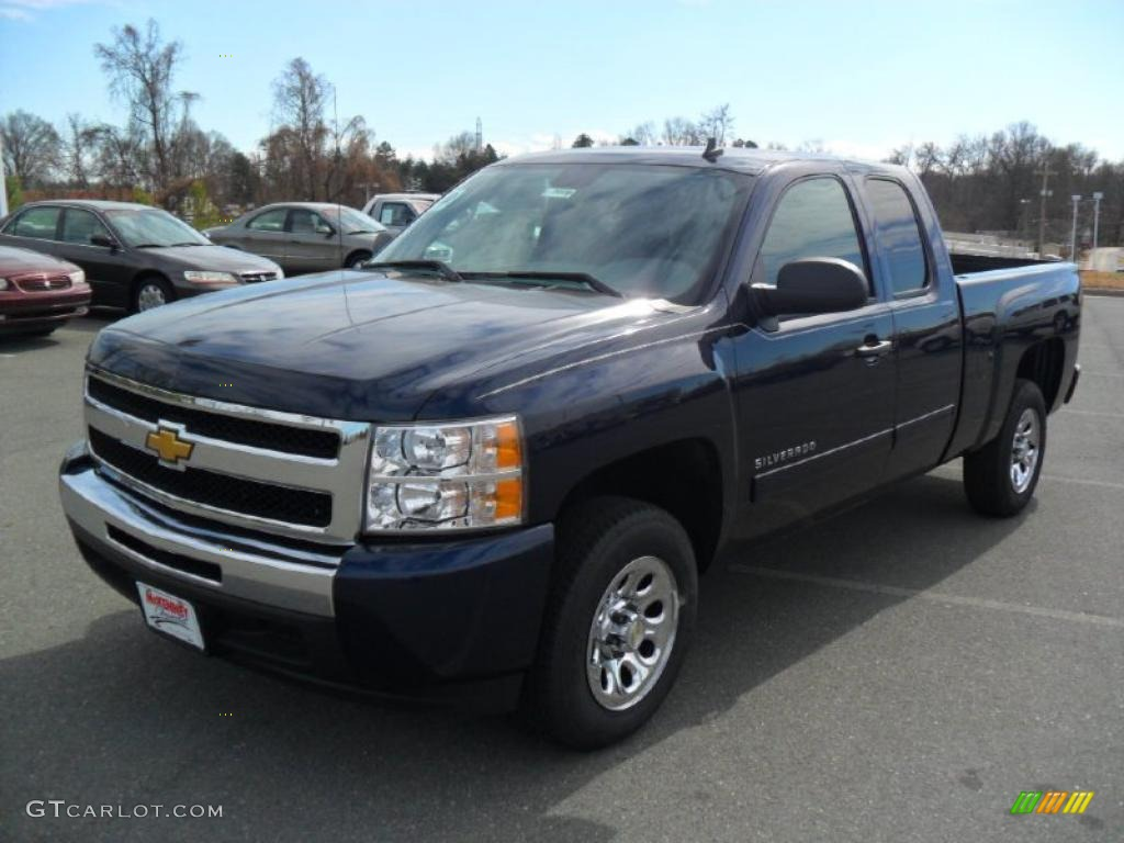 2011 Silverado 1500 LS Extended Cab - Imperial Blue Metallic / Dark Titanium photo #1