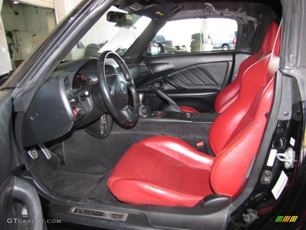 Black Red Leather Interior 2000 Honda S2000 Roadster Photo 45900709