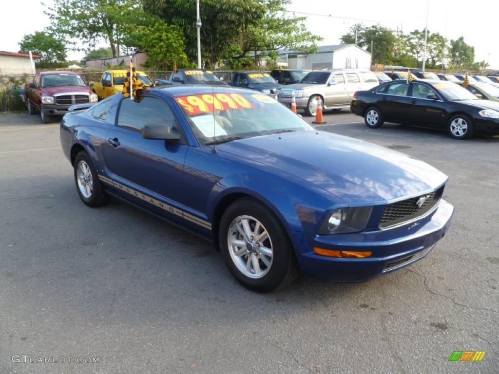 2007 Mustang V6 Deluxe Coupe - Vista Blue Metallic / Medium Parchment photo #1