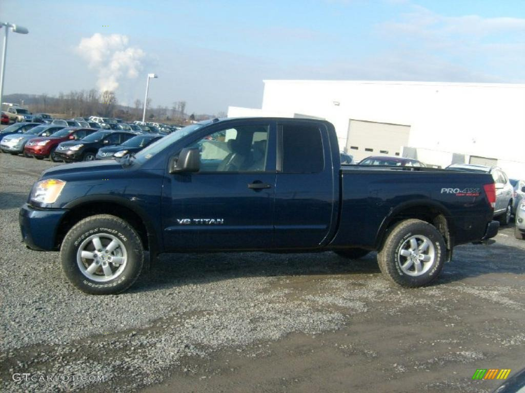 navy blue 2011 nissan titan pro 4x king cab 4x4 exterior photo 45929491. Black Bedroom Furniture Sets. Home Design Ideas
