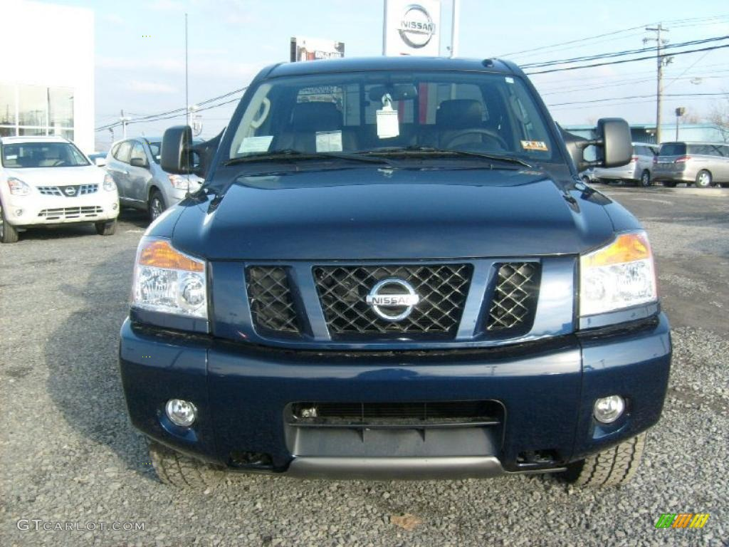 navy blue 2011 nissan titan pro 4x king cab 4x4 exterior photo 45929575. Black Bedroom Furniture Sets. Home Design Ideas